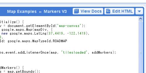 「View Docs」と「Edit HTML」
